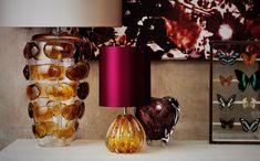 Retro glass lamps