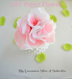 Super cute and super simple DIY paper flowers from @My Uncommon Slice of Suburbia