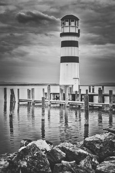 Lighthouse by Ronald König on Willis Tower, Beautiful Landscapes, Lighthouse, Building, Places, Travel, Scenery Photography, Bell Rock Lighthouse, Light House