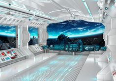 Wall mural futuristic spaceship Fantastic interioir photo wallpapers Wall mural of starship interior SKU 20014 – Nathan Holder – technologie Spaceship Interior, Futuristic Interior, Spaceship Design, Futuristic Art, Futuristic Technology, Technology Design, Futuristic Architecture, Technology Gadgets, Tech Gadgets