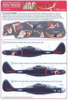 Kits-World-Decals-1-48-NORTHROP-P-61-BLACK-WIDOW-Night-Fighter