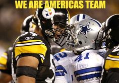 """For the """"boys"""" it was PR. Check the stands at a Steelers away game. Then you'll know America's team."""