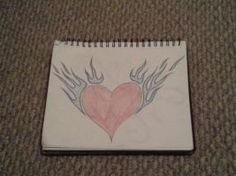 Flame Heart.  looked up a pic and drew it for fun.