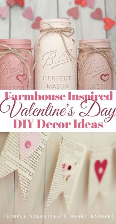 Click now to check out these awesome DIY Valentine's Day decor ideas that are al.Click now to check out these awesome DIY Valentine's Day decor ideas that are all farmhouse style! They will add the sweetest touches of Valentine's D. Saint Valentine, Roses Valentine, Valentine Day Crafts, Funny Valentine, Valentines Day Party, Be My Valentine, Ideas For Valentines Day, Valentine Wreath, Diy Valentine's Day Decorations