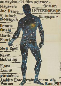 Innerspace (1987). Polish poster by Andrzej Pągowski.