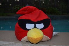 Microbead Angry Birds Captain Red Masked Space Bird Plush Large Rovio 13 x 15