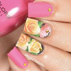 FLORAL http://www.ladyqueen.com/1-sheet-beautiful-flowers-nail-art-decals-transfers-wraps-water-decals-na0413.html