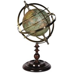 Globe Armillary Sphere featuring polyvore, home, home decor, decor, filler, accessories, furniture and backgrounds