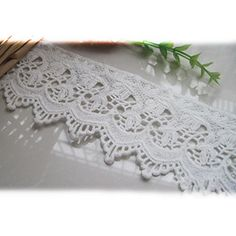 """5 Yards 2 3/4"""" Wide White Venise Lace Trims Eyelet Fabric Garment Clothing Accessory Holiday Home Decor DIY Craft Supply"""