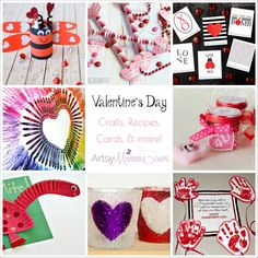 Valentine's Day Crafts and Ideas Galore! Tons of recipes, card & Valentine ideas, kids crafts, DIY projects and, more!
