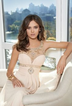 Mesh Beaded Neck Prom Dress from Camille La Vie and Group USA