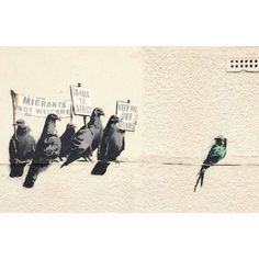 Banksy is a fictional name of a street artist in England. Banksy began his graffiti art in early Started with freehand and gradually grew into stencils. His work slowly started getting recogn… Banksy Graffiti, Street Art Banksy, Banksy Artwork, Banksy Canvas, Bansky, Urbane Kunst, Political Art, Poster Prints, Art Prints