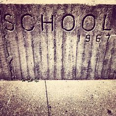 school columbus indiana. 1967 type by funnel / eric kass, via Flickr