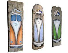 Surf-art.co.uk - Surf art & Driftwood Gifts. Driftwood VW Campers