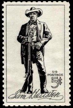 Sam Houston stamp, 1964