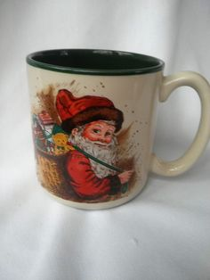 "VINTAGE Mug/Cup Coffee/Tea/Hot Cocoa 8-10 oz.""Santa"" EUC #PotpourriPress"