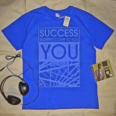 Купить Футболка мужская SUCCESS - печать на ткани, печать на футболках, печать принтов, авторский принт