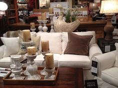 Another living room set up I love at Pottery Barn.
