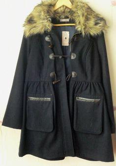 A Wear Women Faux Fur Hooded Duffle Skater Wool Trench Coat Long Jacket Parka 16 | eBay