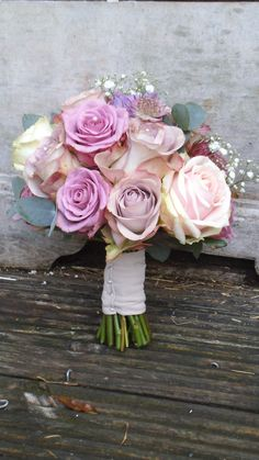 vintage rose bouquet by The Posy Barn