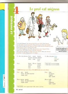 description physique French Teacher, Teaching French, French Body Parts, French Adjectives, French Worksheets, Vocabulary Instruction, French Education, French Expressions, French Grammar