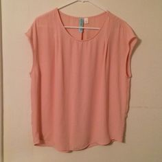 Pale pink top from Francesca's Size large, short sleeve pale pink blouse from Francesca's, barely worn! Francesca's Collections Tops Blouses