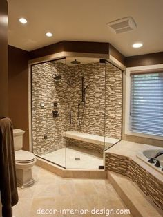 home decor interior design decoration image picture photo bathroom interior design house design design and decoration de casas design Modern Master Bathroom, Master Shower, Modern Bathrooms, Small Bathrooms, Master Baths, Master Bathrooms, Huge Shower, Tuscan Bathroom, Double Shower