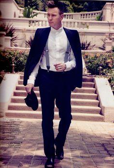 Ewan McGregor - GQ Style Italia photographed by Yu Tsai, Fall/Winter Groom And Groomsmen Attire, Groom Wear, Sharp Dressed Man, Well Dressed Men, Gq Style, Real Style, Style Men, Wedding Men, Wedding Black