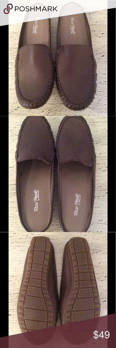 🌺NEW-ROSE PETALS BROWN SLIP ON SHOES-COMFORTABLE 🌺BRAND NEW-BROWN SLIP ON SHOES. COMFORTABLE AND CONVENIENT. RUBBER SOLES SO YOU DO NOT SLIP. COMFORTABLE AND EASY TO PUT ON. NOTICE THERE IS ALSO A PAIR OF THESE IN RED. BUY BOTH AND GET 10% OFF YOUR PURCHASE. YOU ARE GOING TO LOVE ❤️ WEARING THESE SHOES. WALKING CRADLES-ROSE PETALS Shoes Flats & Loafers