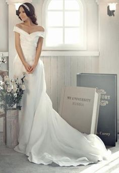 Delicate Princess Off shoulder wedding Dress- by Express from WeiweiK