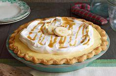 Kraft Recipes- Tarta de crema de plátano y caramelo con whisky (Banana cream pie with whiskey caramel sauce)