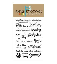 Paper Smooches Clear Stamps-Lucky Dog Two