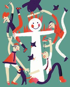 Illustrations for Secret Firmi magazine by Roman Manikhin, via Behance