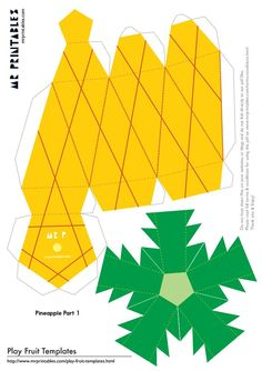Fruit Box Template Ideas For 2019 3d Paper Crafts, Paper Toys, Diy Paper, Diy And Crafts, Crafts For Kids, Diy Gift Box, Diy Box, Paper Fruit, Fruit Box