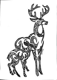 zentangle deer | 20140222-015747.jpg