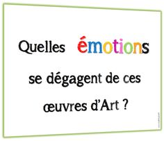 Les émotions en arts visuels - Lutin Bazar The Effective Pictures We Offer You About Montessori Materials primary A quality picture can tell you many things. You can find the most beautiful pictures t Montessori Art, Montessori Materials, Brain Gym, Emotion, History Teachers, Teaching Art, Understanding Yourself, Art School, Art Education