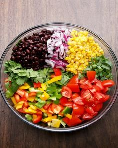 Southwestern Salad With Avocado Dressing | This Salad Is Packed Full Of Wonderful Vegetables That You're Going To Love