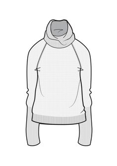 Slouch roll neck