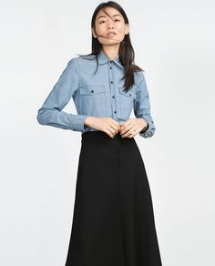TAILORED SHIRT-View all-Tops-WOMAN-SALE | ZARA United States