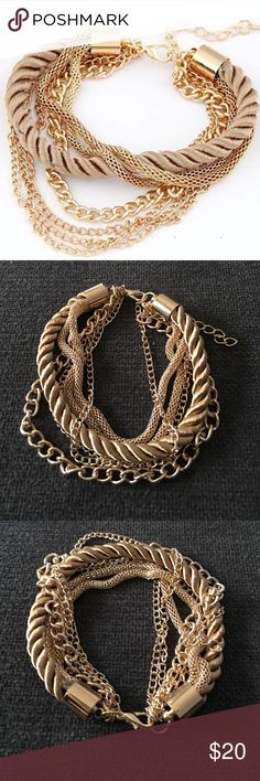 Fashionable Rope Chain Decoration Bracelet Summer party/special occasion accessory. Metals: tibetan silver, zinc alloy. Length approx 7.9in. Jewelry Bracelets