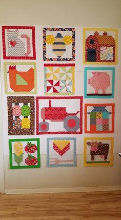 Farm Girl Vintage Quilt by Cheri Armstrong Cowin Patch Quilt, Applique Quilts, Quilt Blocks, Farm Animal Quilt, Farm Quilt, Barn Quilt Patterns, Modern Quilt Patterns, Quilting Projects, Quilting Designs