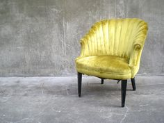 vintage channel back chair.