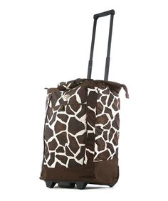 Take a look at this Olympia Giraffe Fashion Wheeled 30'' Shopper Tote on zulily today!