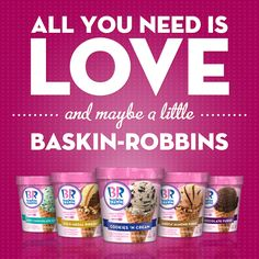 Baskin-Robbins® Ice Cream is Now Available in Grocery Stores! Br Ice Cream, Ice Cream Flavors List, Chocolate Fudge Cookies, Cold Stone Creamery, Chocolate Gold, Baskin Robbins, I Scream, All You Need Is Love, Grocery Store