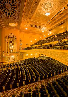 My heart. My soul. This is my happy place. That's why theaters are haunted. No matter what you do with your life a true thespian will always come home to the theater. Concert Hall, Beautiful Architecture, Places To See, Opera House, Travel Photography, Beautiful Places, Scenery, Around The Worlds, Auditorium Seating