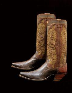 Western Boots, circa 1930  Archer LaForce, Tucson, Arizona  Custom made for writer-artist Will James