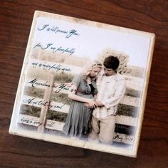 Mom-to-Be: Personalized Larger Photo Blocks- Your own pregnancy picture and poem