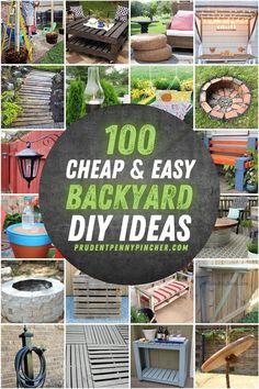 Garden Ideas Budget Backyard, Small Backyard Design, Cheap Landscaping Ideas, Backyard Ideas For Small Yards, Small Backyard Landscaping, Backyard Patio Designs, Diy Patio, Easy Patio Ideas, Diy Yard Decor