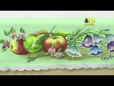 Vida com Arte | Pintura de Maçãs e Flores em Pano de Copa por Beth Matteelli - 15 de outubro de 2014 - YouTube