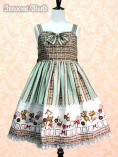 Innocent World - JSK - Icing Cookie High Waist JSK /// ¥19,950 /// Bust:  70-144 Length:  87 (includes 3cm lace)